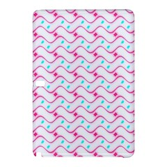 Squiggle Red Blue Milk Glass Waves Chevron Wave Pink Samsung Galaxy Tab Pro 10 1 Hardshell Case