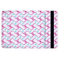 Squiggle Red Blue Milk Glass Waves Chevron Wave Pink iPad Air Flip