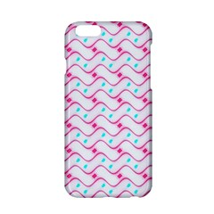 Squiggle Red Blue Milk Glass Waves Chevron Wave Pink Apple iPhone 6/6S Hardshell Case