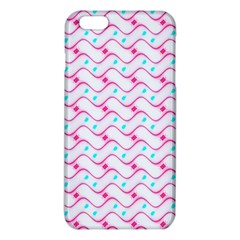 Squiggle Red Blue Milk Glass Waves Chevron Wave Pink iPhone 6 Plus/6S Plus TPU Case
