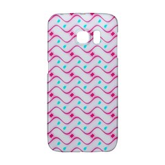 Squiggle Red Blue Milk Glass Waves Chevron Wave Pink Galaxy S6 Edge