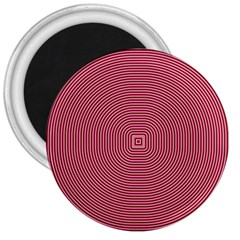 Stop Already Hipnotic Red Circle 3  Magnets