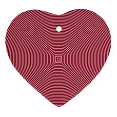 Stop Already Hipnotic Red Circle Ornament (Heart)