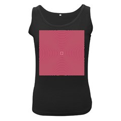 Stop Already Hipnotic Red Circle Women s Black Tank Top
