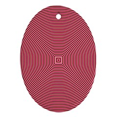 Stop Already Hipnotic Red Circle Oval Ornament (Two Sides)