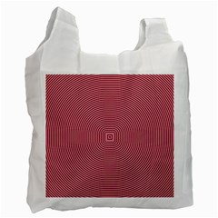 Stop Already Hipnotic Red Circle Recycle Bag (One Side)