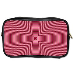 Stop Already Hipnotic Red Circle Toiletries Bags 2-Side