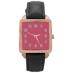 Stop Already Hipnotic Red Circle Rose Gold Leather Watch