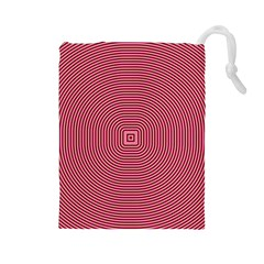 Stop Already Hipnotic Red Circle Drawstring Pouches (Large)