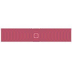 Stop Already Hipnotic Red Circle Flano Scarf (Large)