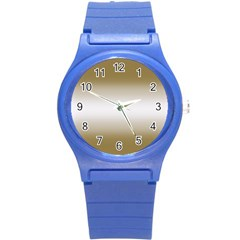 Decorative pattern Round Plastic Sport Watch (S)