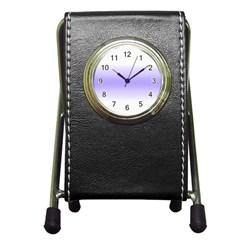 Decorative pattern Pen Holder Desk Clocks