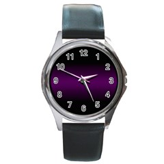 Decorative pattern Round Metal Watch