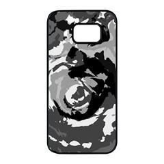 Abstract Art Samsung Galaxy S7 Edge Black Seamless Case