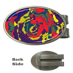 Abstract art Money Clips (Oval)