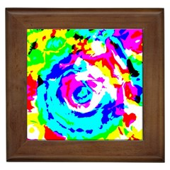 Abstract art Framed Tiles