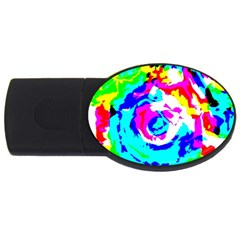 Abstract art USB Flash Drive Oval (1 GB)