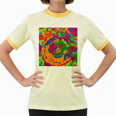 Abstract art Women s Fitted Ringer T-Shirts