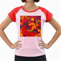 Abstract art Women s Cap Sleeve T-Shirt