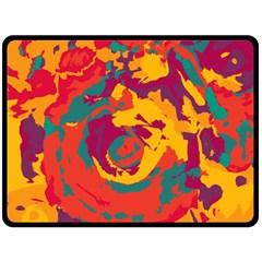 Abstract art Fleece Blanket (Large)