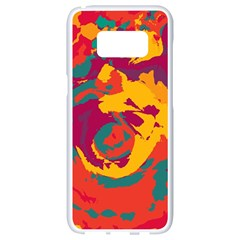 Abstract Art Samsung Galaxy S8 White Seamless Case