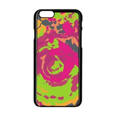 Abstract art Apple iPhone 6/6S Black Enamel Case