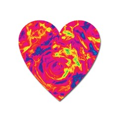 Abstract art Heart Magnet