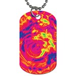 Abstract art Dog Tag (Two Sides) Back