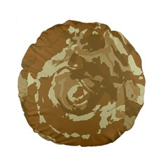 Abstract art Standard 15  Premium Flano Round Cushions