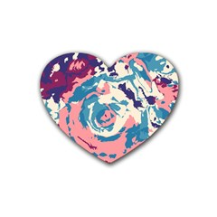 Abstract art Rubber Coaster (Heart)