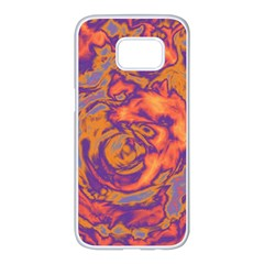 Abstract Art Samsung Galaxy S7 Edge White Seamless Case