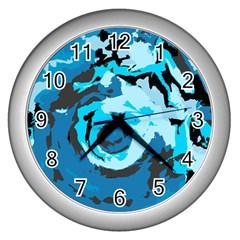 Abstract art Wall Clocks (Silver)