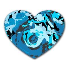 Abstract art Heart Mousepads