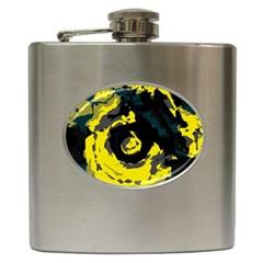 Abstract art Hip Flask (6 oz)