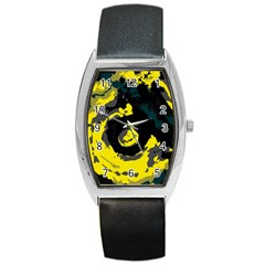 Abstract art Barrel Style Metal Watch