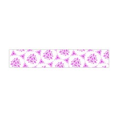 Sweet Doodle Pattern Pink Flano Scarf (Mini)