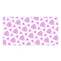 Sweet Doodle Pattern Pink Satin Shawl
