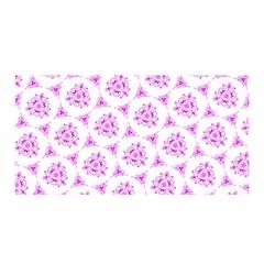 Sweet Doodle Pattern Pink Satin Wrap