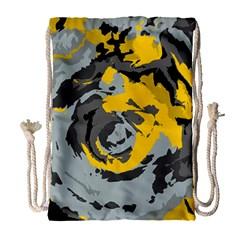 Abstract art Drawstring Bag (Large)