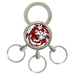 Abstract art 3-Ring Key Chains