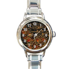 Unique Abstract Mix 1a Round Italian Charm Watch