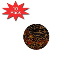 Unique Abstract Mix 1a 1  Mini Buttons (10 pack)