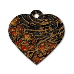 Unique Abstract Mix 1a Dog Tag Heart (Two Sides)
