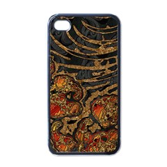 Unique Abstract Mix 1a Apple iPhone 4 Case (Black)