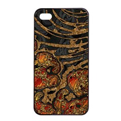 Unique Abstract Mix 1a Apple iPhone 4/4s Seamless Case (Black)