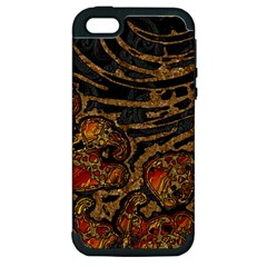 Unique Abstract Mix 1a Apple iPhone 5 Hardshell Case (PC+Silicone)