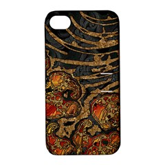 Unique Abstract Mix 1a Apple iPhone 4/4S Hardshell Case with Stand