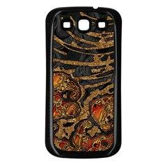 Unique Abstract Mix 1a Samsung Galaxy S3 Back Case (Black)