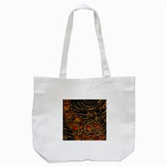 Unique Abstract Mix 1a Tote Bag (White)