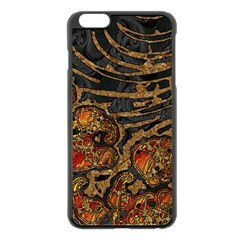 Unique Abstract Mix 1a Apple iPhone 6 Plus/6S Plus Black Enamel Case